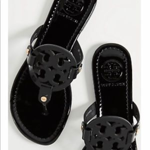 Tory Burch Patent Leather Miller Flats